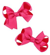 Bows By Stær Bow Hair Clips - 2-Pack - 8 cm - Pink