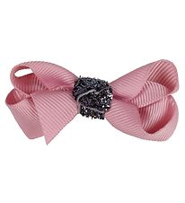 Bows By Stær Bow Hair Clips - 2-Pack - 6 cm - Dusty Rose w. Glit