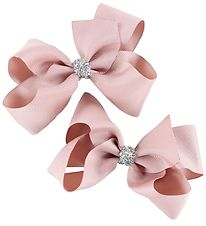 Bows By Stær Bow Hair Clips - 2-Pack - 10 cm - Antique Rose w. G