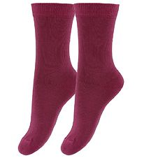 Fuzzies Socks - 2-Pack - Bordeaux
