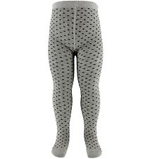 Fuzzies Tights - Grey w. Dots