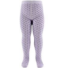 Fuzzies Tights - Pale Lavender w. The Purple Dots