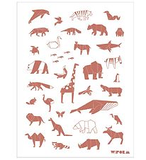 W:form Poster - 30x40 - Animals - Pink/White