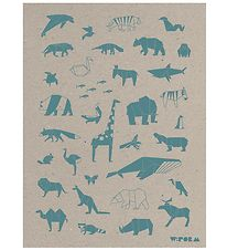 W:form Poster - 30x40 - Animals - Turquoise/Recycled