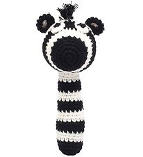 NatureZoo Rattle - Sir Zebra - Black/White