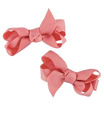 Bows By Stær Hair Clip Bow - 2-Pack - 6 cm - Sweet Rose