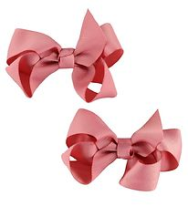 Bows By Stær Bow Hair Clips - 2-Pack - 8 cm - Rose
