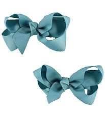 Bows By Stær Bow Hair Clips - 2-Pack - 8 cm - Aqua