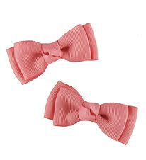 Bows By Stær Bow Hair Clips - Double Bow - 2-Pack - 6 cm - Rose