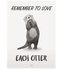 Hipd Poster - A3 - Love Otter
