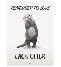 Hipd Poster - A4 - Love Otter