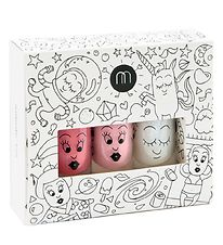 Nailmatic Nail Polish - 3-Pack - Pink/Powder/Top Coat