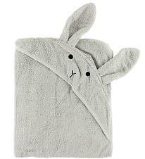 Liewood Hooded Towel - 100x100 - Grey w. Rabbit