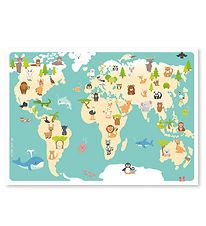 Studio Circus Poster - 50x70 - Worldmap Animals