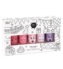 Nailmatic Nail Polish - 5-Pack - Pink Glitter/Pink/Powder/Purple