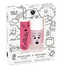 Nailmatic Nail Polish/Lipgloss - Light Pink Glitter/Raspberry