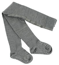 GoBabyGo Non-Slip Tights - Wool - Grey Melange