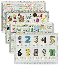 GoBabyGo Placemat - 4 pcs - 42x30 - White w. Number/Words