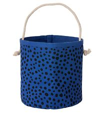 ferm Living Storage Basket - 14x16 - Blue w. Dots