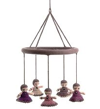 Smallstuff Baby Mobile - Dolls - Pink/Dusty Purple