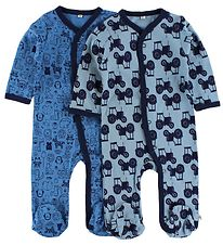 Pippi Jumpsuit - 2-Pack - Blue/Light Blue w. Print
