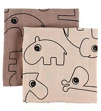 Done By Deer Muslin Cloth - 2-Pack - 70x70 - Powder w. Elphee