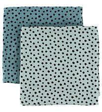 Done By Deer Muslin Cloth - 2-Pack - 70x70 - Blue/Dots