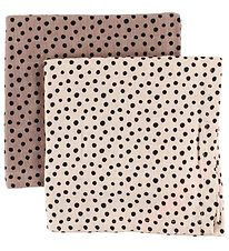 Done By Deer Muslin Cloth - 2-Pack - Powder w. Dots