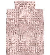 Snurk Duvet Cover - Adult - Rose Knitted Print