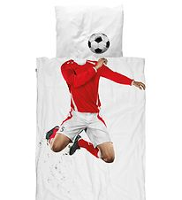 Snurk Duvet Cover - Adult - Red Footballer