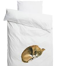 Snurk Duvet Cover - Adult - White w. Dogs