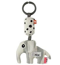 Done By Deer Clip Toy - Elphee - Light Grey/White