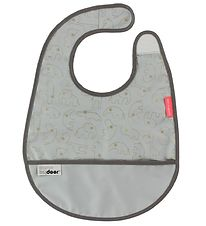 Done By Deer Bib w. Food Catcher - Grey/Gold