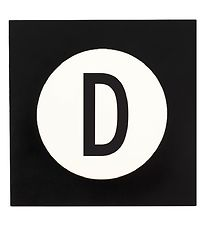 Design Letters Wall Hook - D - 14x14 - White Black