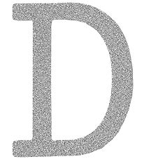 Thats Mine Letter - D - Silver Glitter
