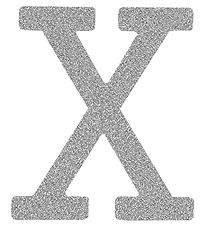 Thats Mine Letter - X - Silver Glitter