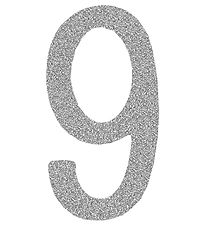Thats Mine Numbers - 9 - Silver Glitter
