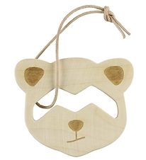 Loullou Teether - Wood - Raccoon