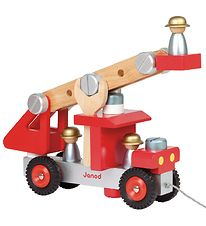 Janod Pull Along Toy - Firetruck w. Tools