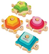 Janod Stacking Tower - Turtles - Pink/Green/Yellow/Blue