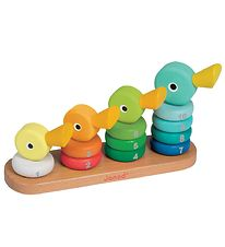 Janod Stacking Tower - Ducks - Green/Orange/Yellow