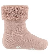 Fuzzies Baby Socks - Non-Slip - Powder