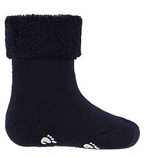Fuzzies Baby Socks - Non-Slip - Navy