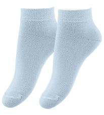 Fuzzies Ankle Socks - 2-Pack - Light Blue