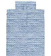 Snurk Duvet Cover - Junior - Blue Knitted Print