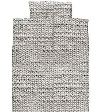 Snurk Duvet Cover - Junior - Grey Knitted Print