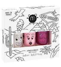 Nailmatic Nail Polish - 3 Pack -Rose Glitter/Pink/Raspberry Glit