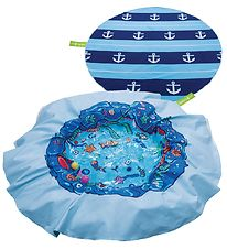EverEarth Beach Blanket Pool - D: 180 cm - Blue w. Anchor