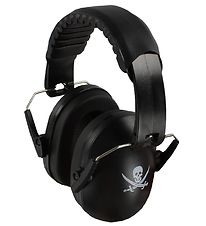 A-safety Earmuffs - Black w. Pirate Skull