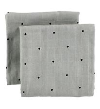 Liewood Cloth Diapers - 2-Pack - Grey w. Dots